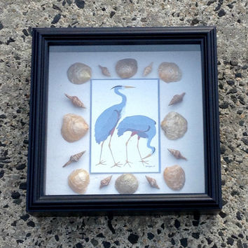 Beach Themed Home Decor - Shadow Box - Gift Idea - Beach House Decor - Cottage Chic - Mothers Day Gift Idea - Mothers Day