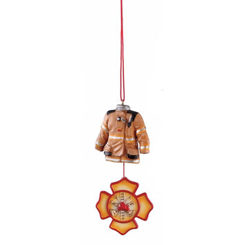 Firefighter Holiday Dangle Ornament