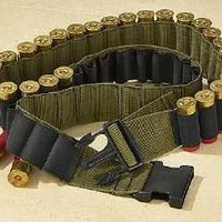 Fox Outdoor Products Military Shotgun Canvas Shell Bandolier Belt, Olive Drab