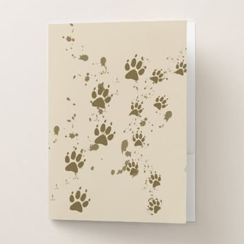 Wolf Tracks Pocket Folder