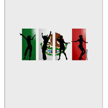Mexican Flag - Dancing Silhouettes Aluminum Dry Erase Board by TooLoud