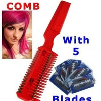 Razor Comb Home Hairdressing Cut Scene Emo Punk Scissor diy