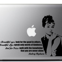 Audrey Hepburn Laptop Decal - For Beautiful Eyes