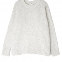 Dove Grey Rue Mohair Jumper by Acne