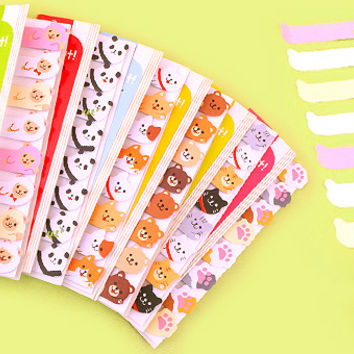 Buy Kawaii Sticky Note Marker Peep Out - Alpacas at Tofu Cute