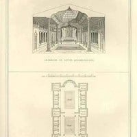 Persian Baths, Plan & Interior (Paper Poster)