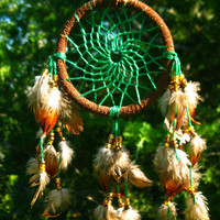 Mini Green Dream Catcher