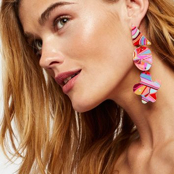 Free People Hand Painted Gilda Earrings