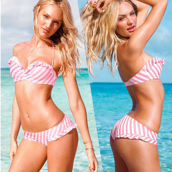 Summer Sexy New Arrival Beach Swimsuit Hot Stripes Swimwear Bikini [6048194241]