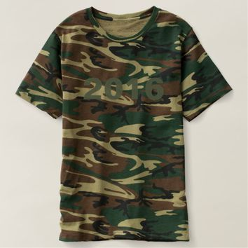 Happy New Year 2016 Numbers Camouflage Shirt