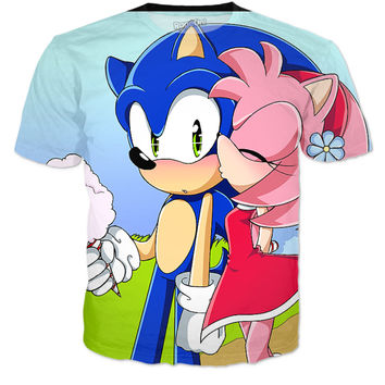 Sonic and Amy love shirt
