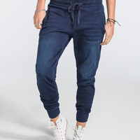 Celebrity Pink Womens Knit Denim Jogger Pants Dark Denim  In Sizes