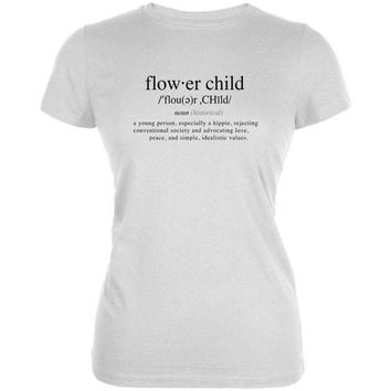 ESBGQ9 Flower Child Definition Juniors Soft T Shirt