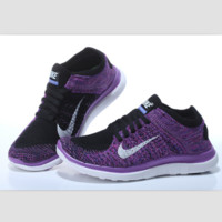 NIKE knitting flying line casual sports shoes Purple black