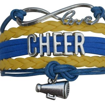 Cheer Infinity Bracelet- Yellow