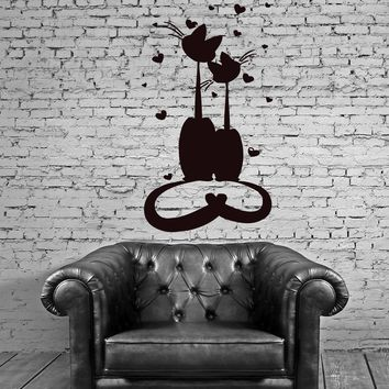 Cats Pets Love Friendship Animals Funny  Mural Wall Art Decor Vinyl Sticker Unique Gift z460