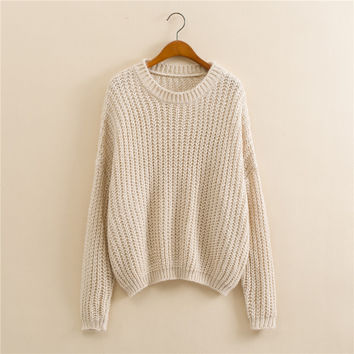 Long Sleeve Knit Tops [9017734468]