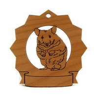 Hamster Personalized Wood Ornament Personalized by gclasergraphics