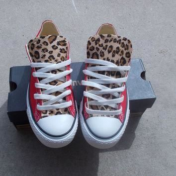 leopard converse shoes