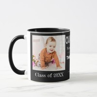 Chalkboard | Two Photo | Now and Then | Grad Mug