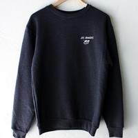 Los Angeles '89 Oversized Sweatshirt - Dark Heather Grey