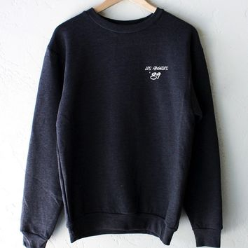 Los Angeles '89 Oversized Sweater - Dark Heather Grey