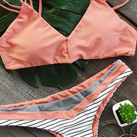 Cupshe Set You Straight Strappy Bikini Set