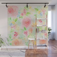 summer flowers Wall Mural by sylviacookphotography