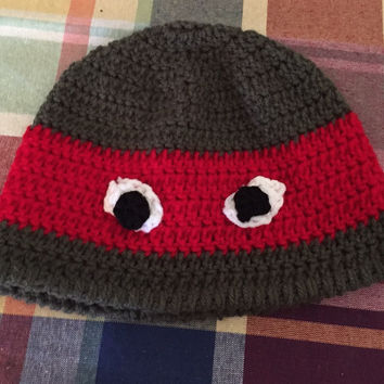Ninja Turtle Beanie Crocheted Hat
