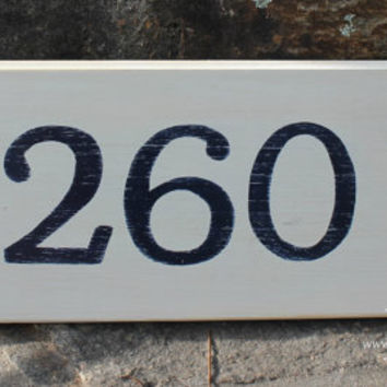 Custom Order Hand Painted House Number Address Sign - Makes Great Gift Housewarming Wedding