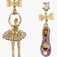 Betsey Johnson 'Terrific Tutus' Ballerina & Slipper Earrings
