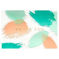 Palette Folded Thank You Card