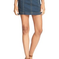 Free People 'Modern Femme' Denim Miniskirt (Denim Blue) | Nordstrom