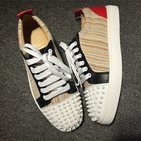 Christian Louboutin CL Low Style #2052 Sneakers Fashion Shoes Best Deal Online