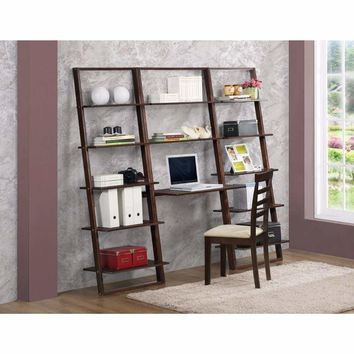 Well-made Desk & Wall Bookcases