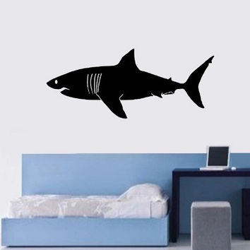 Great White Shark Wall Decal Large Shark Home Decor Kids Room Huge Shark Wall...