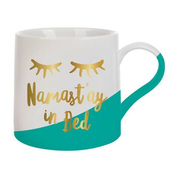 """Namast'ay in Bed"" Coffee Mug"