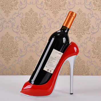 High Heel Shoe Wine Bottle Holder Shoes Design Silicone Wine Bottle Holder Rack Shelf