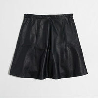 Factory flared leather skirt