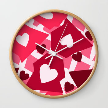 Shaped Heat Wall Clock by Colorful Art