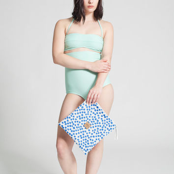 Waterproof Polka dots Pouch - Swimsuit - Swimwear - Bathing Suit - Beach Bag - Accessories