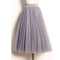 women skirt 2016 lolita summer long maxi mesh skirt tulle skirts KB1040