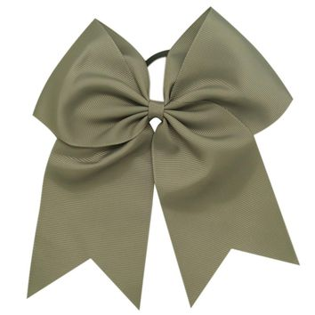 1 PC 8'' Handmade Solid Ribbon Cheer Bow For Girls Kids Boutique Large Cheerleading Hair Bow Children Hair Accessories