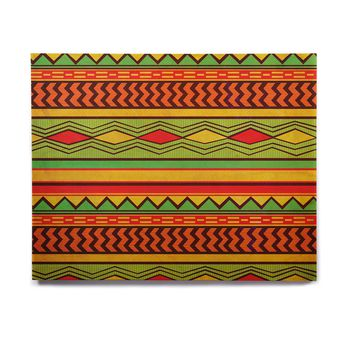 "Louise Machado ""Egyptian"" Red Orange Birchwood Wall Art"