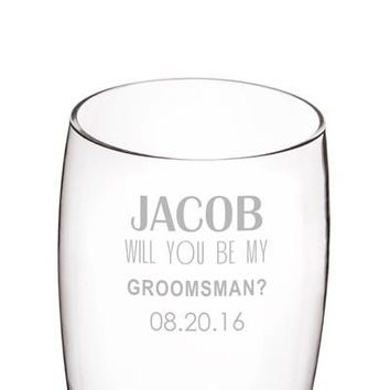 Personalized Will You Be My Groomsman? 54 oz. XL Beer Pilsner Glass