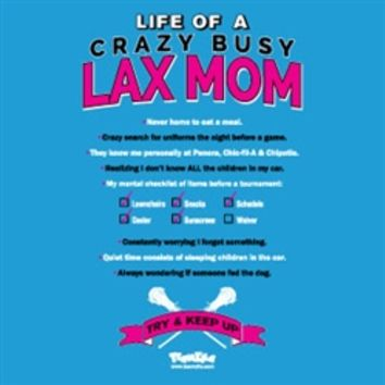 Lacrosse - Life of a Crazy Busy Lax Mom Short Sleeve Tee