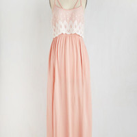 Pastel Long Sleeveless A-line Blush to Conclusions Dress