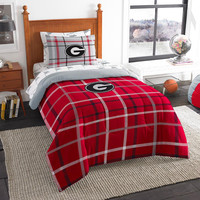 Georgia Bulldogs NCAA Twin Comforter Bed in a Bag (Soft & Cozy) (64in x 86in)