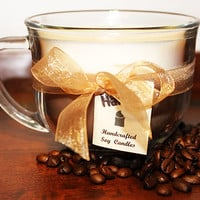 Hazelnut Coffee Natural Soy Candle. Soy blend with a High Quality Hazelnut Coffee Fragrance