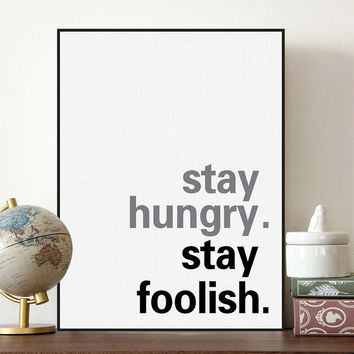 Minimalist Nordic Black White Motivational Typography Jobs Quote Art Print Poster Wall Picture Canvas Painting Living Room Decor